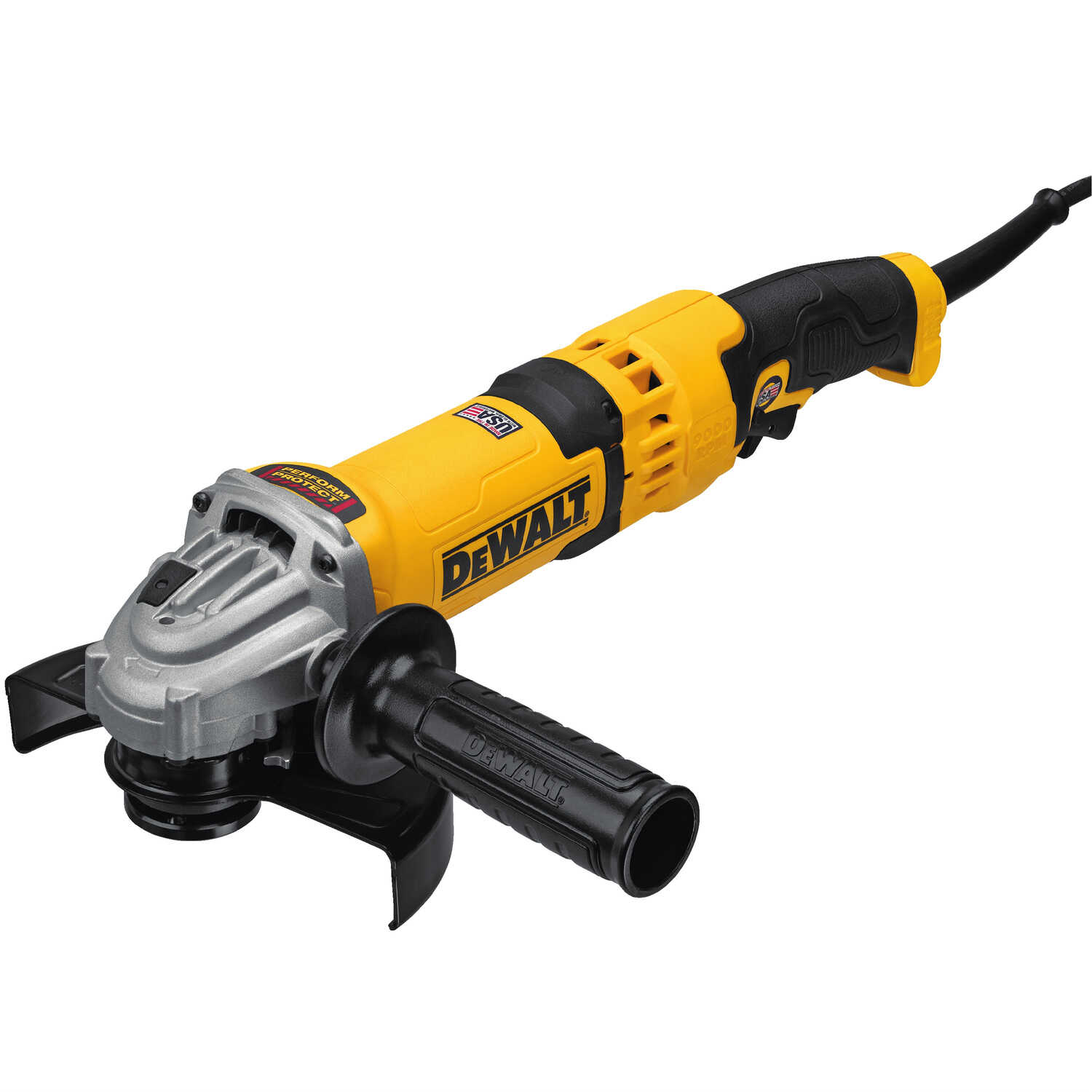 DeWalt  Corded  13 amps 4-1/2 to 6 in. Small Angle Grinder  Bare Tool  Trigger  9000 rpm