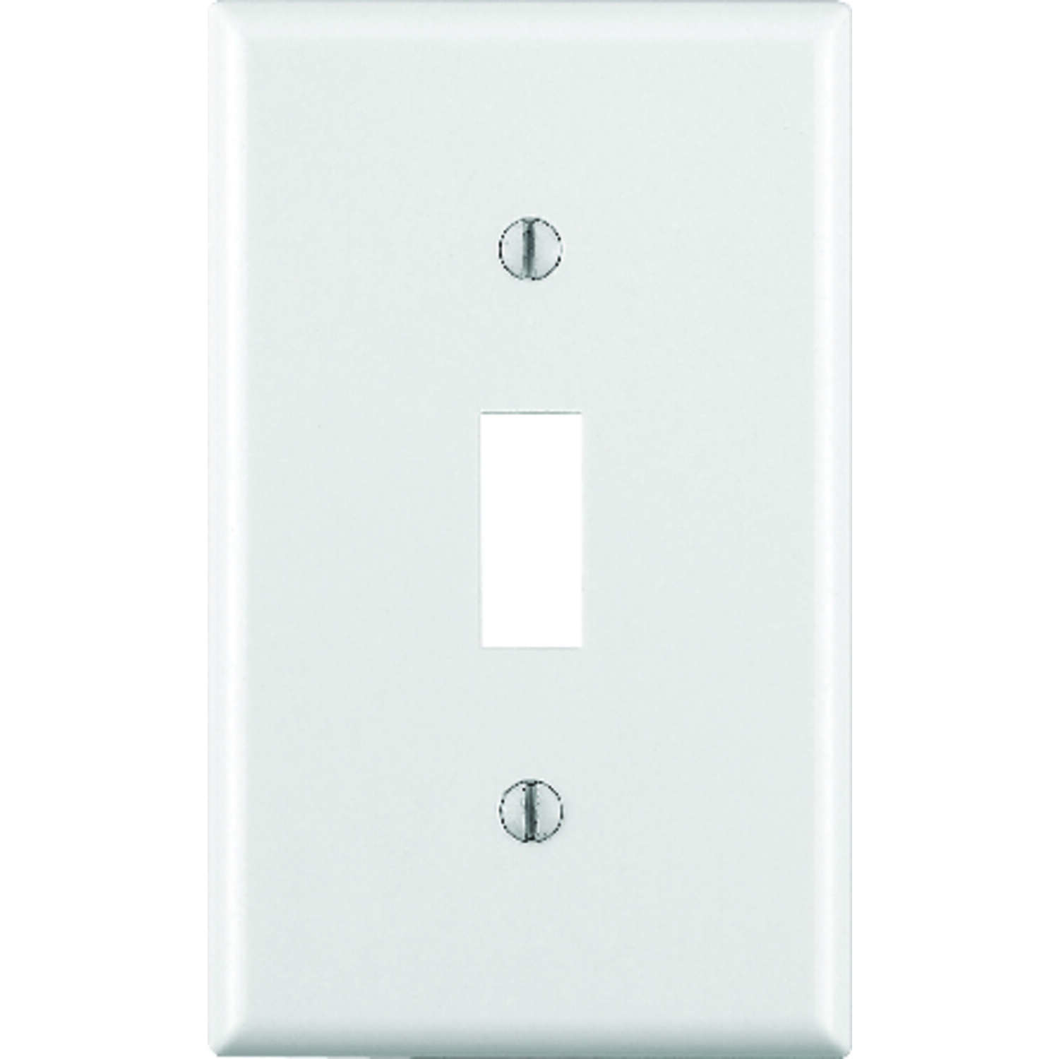 Leviton  White  1 gang Thermoset Plastic  Toggle  Wall Plate  1 pk
