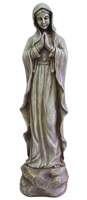 Le Power  Polyresin  Madonna  25-5/16 in. Outdoor Statue