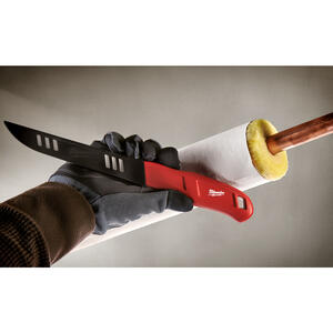 Milwaukee  12 in. Fixed Blade  Insulation Knife  Red  1 pk