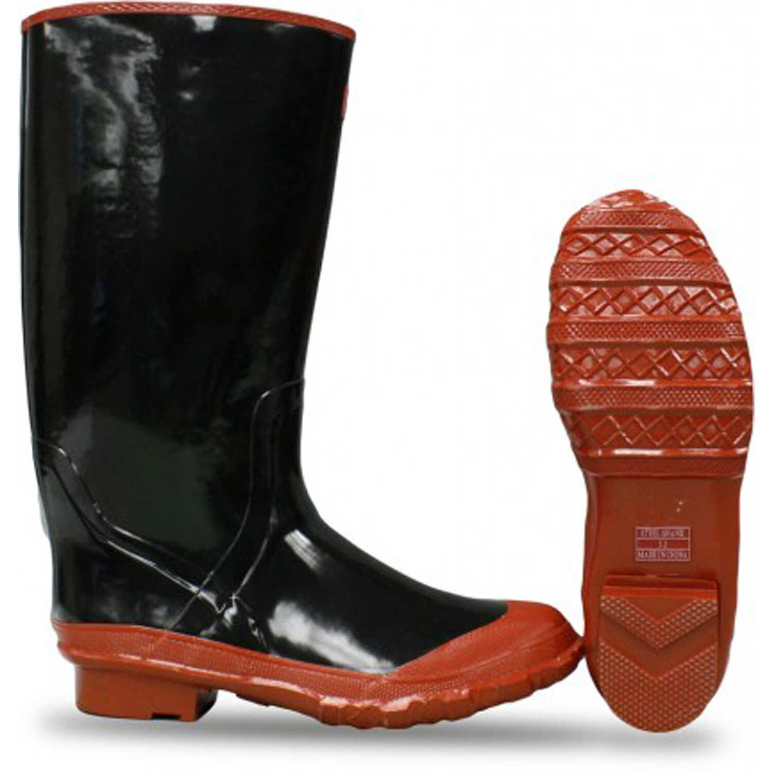 Boss  Black/Red  Rubber  Boots  13 US