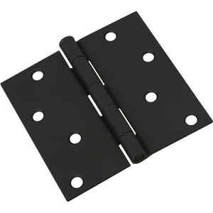National Hardware  4 in. L Black  Door Hinge  1 pk