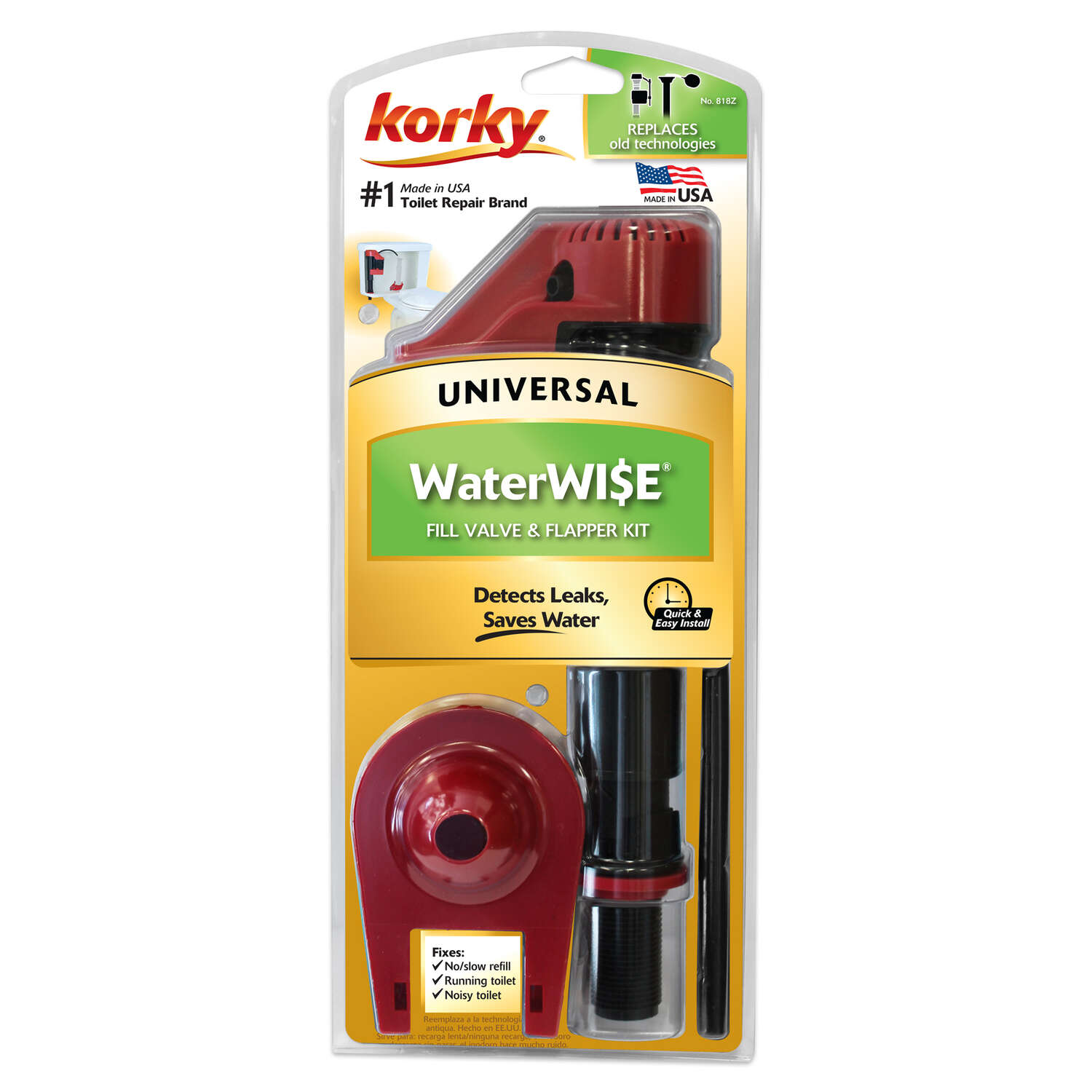 Korky  Fill Valve And Flapper Kit