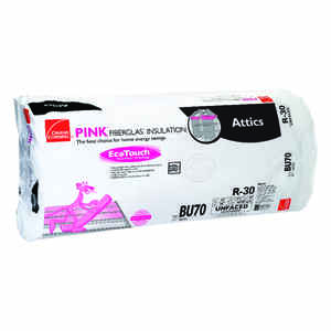 Owens Corning  24 in. W x 48 in. L R-30  Unfaced  Insulation  Batt  80 sq. ft.
