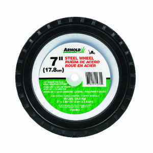 Arnold  1.5 in. W x 7 in. Dia. Steel  Lawn Mower Replacement Wheel  55 lb.