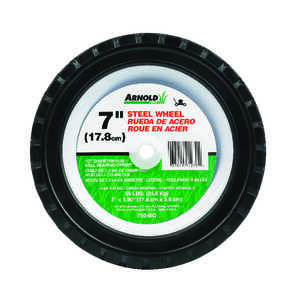 Arnold  7 in. Dia. x 1.5 in. W 55 lb. Lawn Mower Replacement Wheel  Steel