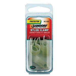 Jandorf  3/8 in. Dia. Nylon  Cable Clamp  5 pk