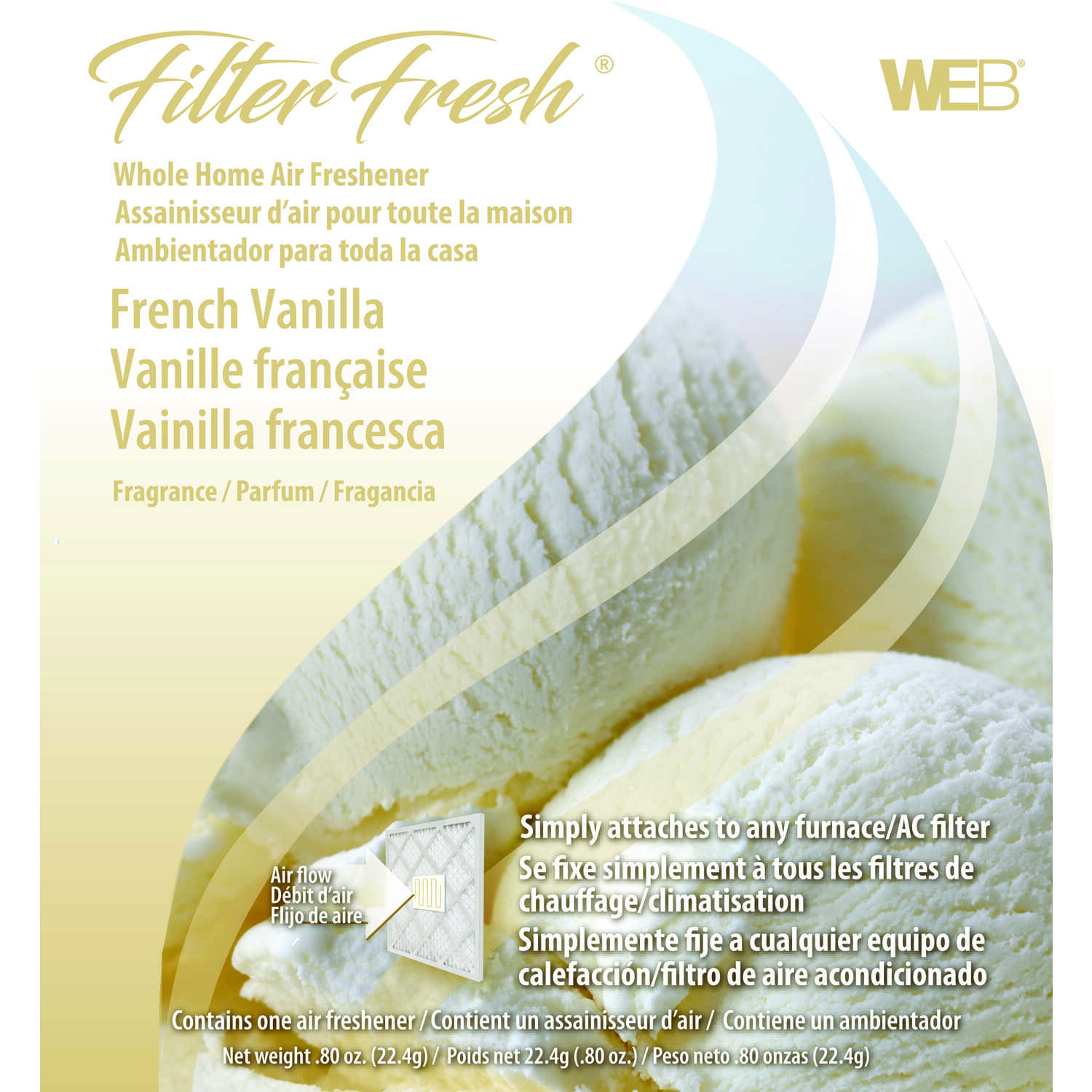 Web  Filter Fresh  French Vanilla Scent Air Freshener  0.8 oz. Gel