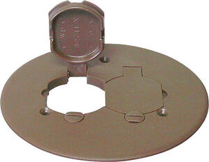Cantex  Round  PVC  2 gang Duplex Floor Box Cover  For Duplex Receptacle