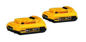 DeWalt  20V MAX XR  20 volt Lithium-Ion  Compact Battery Combo Pack  2 pc.