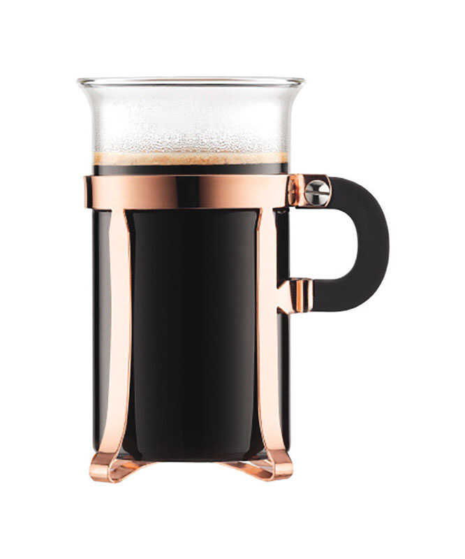 Bodum  Copper  Borosilicate Glass  Contemporary  Coffee Glass  2 pk