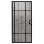 Precision  81-3/4 in. H x 36 in. W Regal  Black  Steel  Security Door