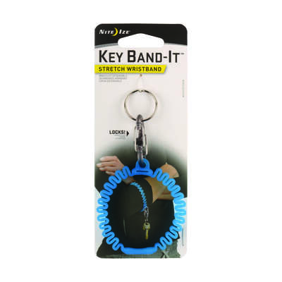 Nite Ize  Band-It  2.5 in. Dia. Plastic  Blue  Wristband  Key Ring