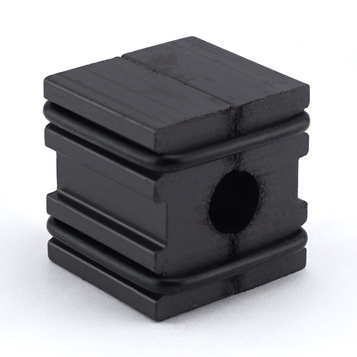 Master Magnetics  The Magnet Source  1 in. Ferrite Powder/Rubber Polymer Resin  Magnetizer  Black  1