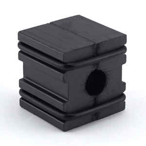 Master Magnetics  1 in. Ferrite Powder/Rubber Polymer Resin  Magnetizer  0.6 MGOe Black  1 pc.