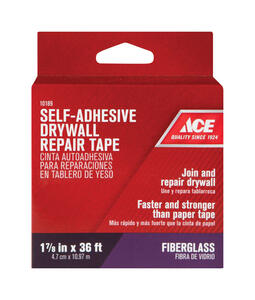 Ace  36 ft. L x 1.88 in. W Fiberglass  White  Self Adhesive Wall Repair Tape
