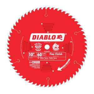 Diablo  10 in. Dia. x 5/8 in.  x 0.098 in.  Carbide Tip  Circular Saw Blade  60 teeth 1 pk