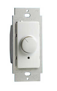 Leviton  IllumaTech  White  600 watts Rotary  Dimmer Switch  1 pk