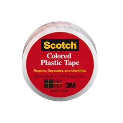 Scotch  Clear  125 in. L x 3/4 in. W Plastic Tape