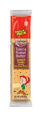 Keebler  Toast and Peanut Butter  Crackers  1.8 oz. Pouch