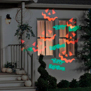 Gemmy  Halloween Lightshow  Lighted Whirl-A-Motion Projector  12 in. H x 13-7/16 in. W 1 pk