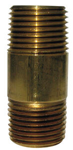 JMF  1/8 in. MPT   x 5-1/2 in. L Brass  Nipple