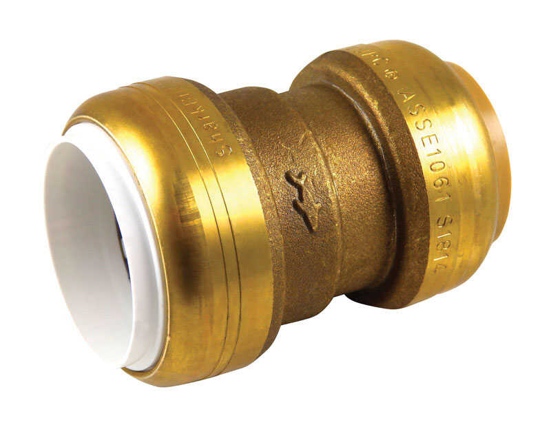 SharkBite  1 in. Dia. x 1 in. Dia. x 2.6 in. L IPS To CTS  Transition Coupling  Brass