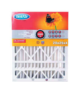 BestAir  25 in. W x 20 in. H x 4 in. D 11 MERV Pleated Air Filter