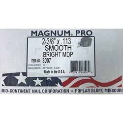 Magnum Pro 2-3/8 in. Angled Coil Nails 15 deg. Smooth Shank 3000 pk