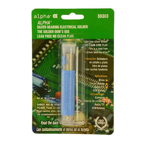 Alpha  Lead-Free Flux Core Solder  Silver Bearing  1 pc.