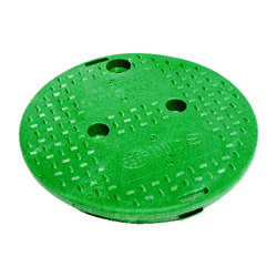 NDS 9.7 inch W x 9.7 inch H Round Valve Box Cover Green
