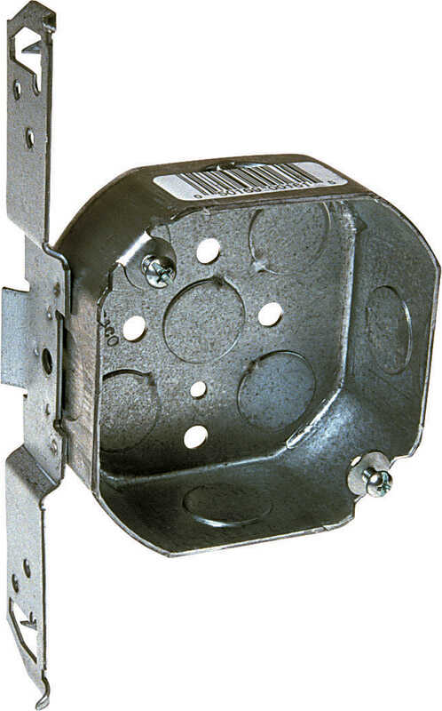 Raco  7 in. Octagon  Steel  1 gang Junction Box  Gray