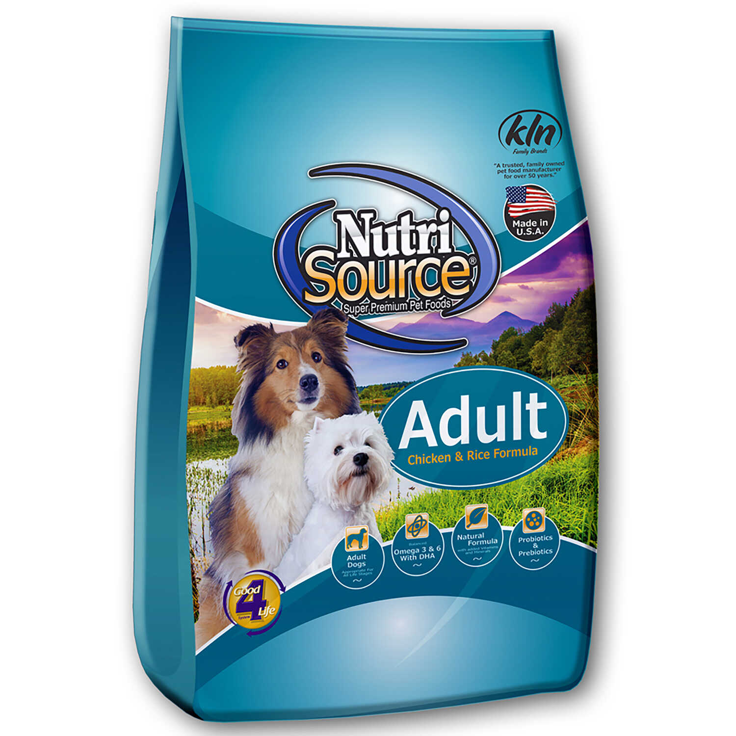 Nutri Source  Chicken and Rice  Cubes  Dog  Food  15 lb.