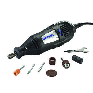 Dremel  100 Series  1/8 in. Corded  Rotary Tool  Kit 0.9 are 120 volt 35000 rpm 7 pc.