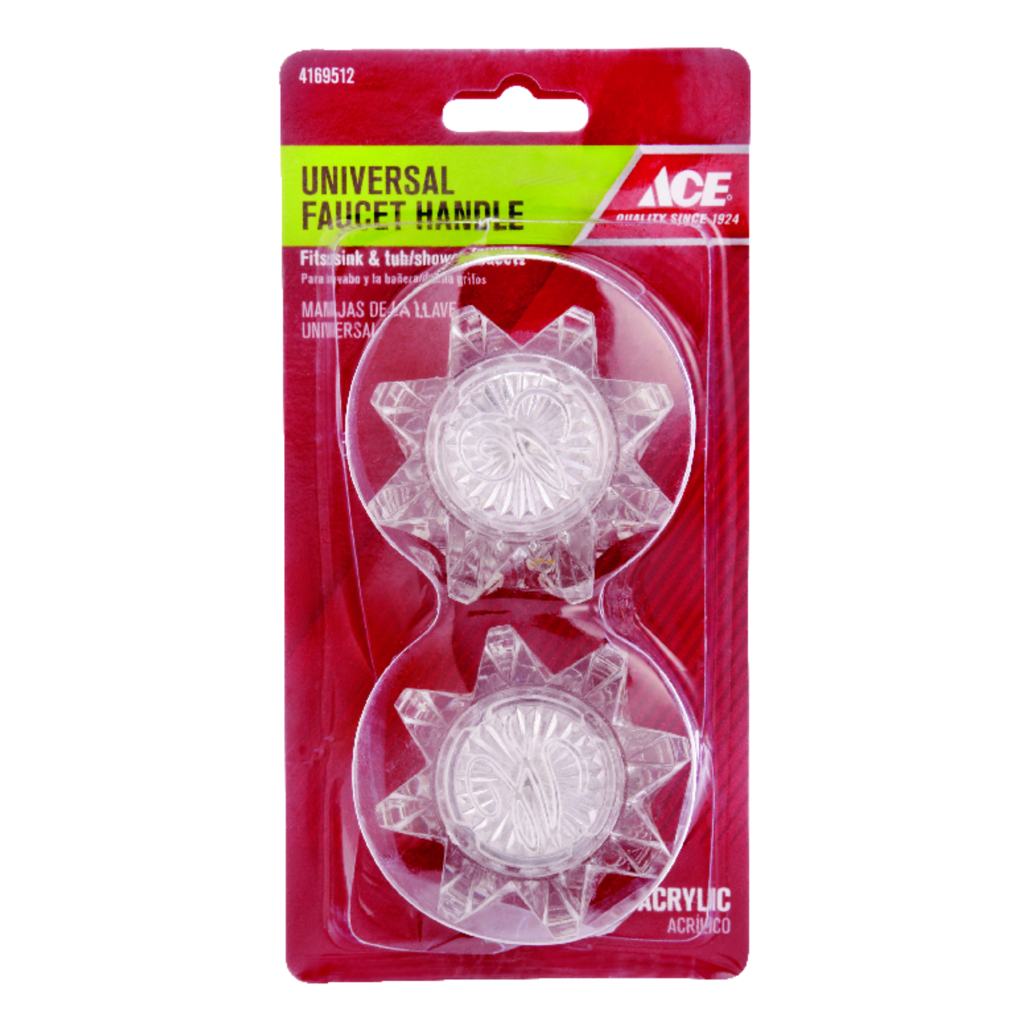 Ace Vise Grip Clear Acrylic Hot And Cold Universal Faucet