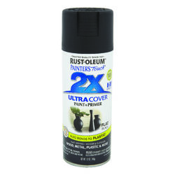 Rust-Oleum  Painter's Touch 2X Ultra Cover  Flat  Black  Spray Paint  12 oz.