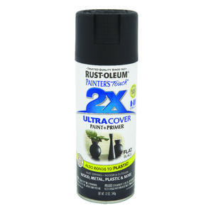 Rust-Oleum  Painter's Touch Ultra Cover  Flat  Black  Spray Paint  12 oz.