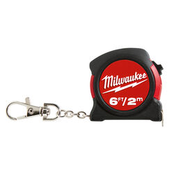 Milwaukee  6 ft. L x 1.2 in. W Pocket  Keychain Tape Measure  1 pk