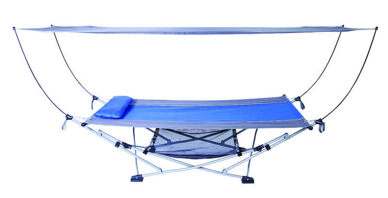 Mac Sports 26 4 In W X 91 3 In L Blue Portable Hammock With Stand