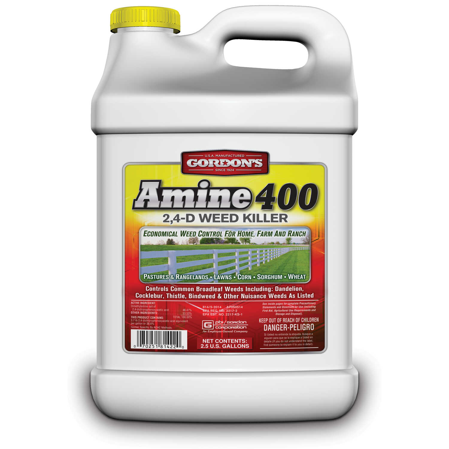 Gordons  Amine 400  Concentrate  Broadleaf Weed Killer  2.5 gallon gal.