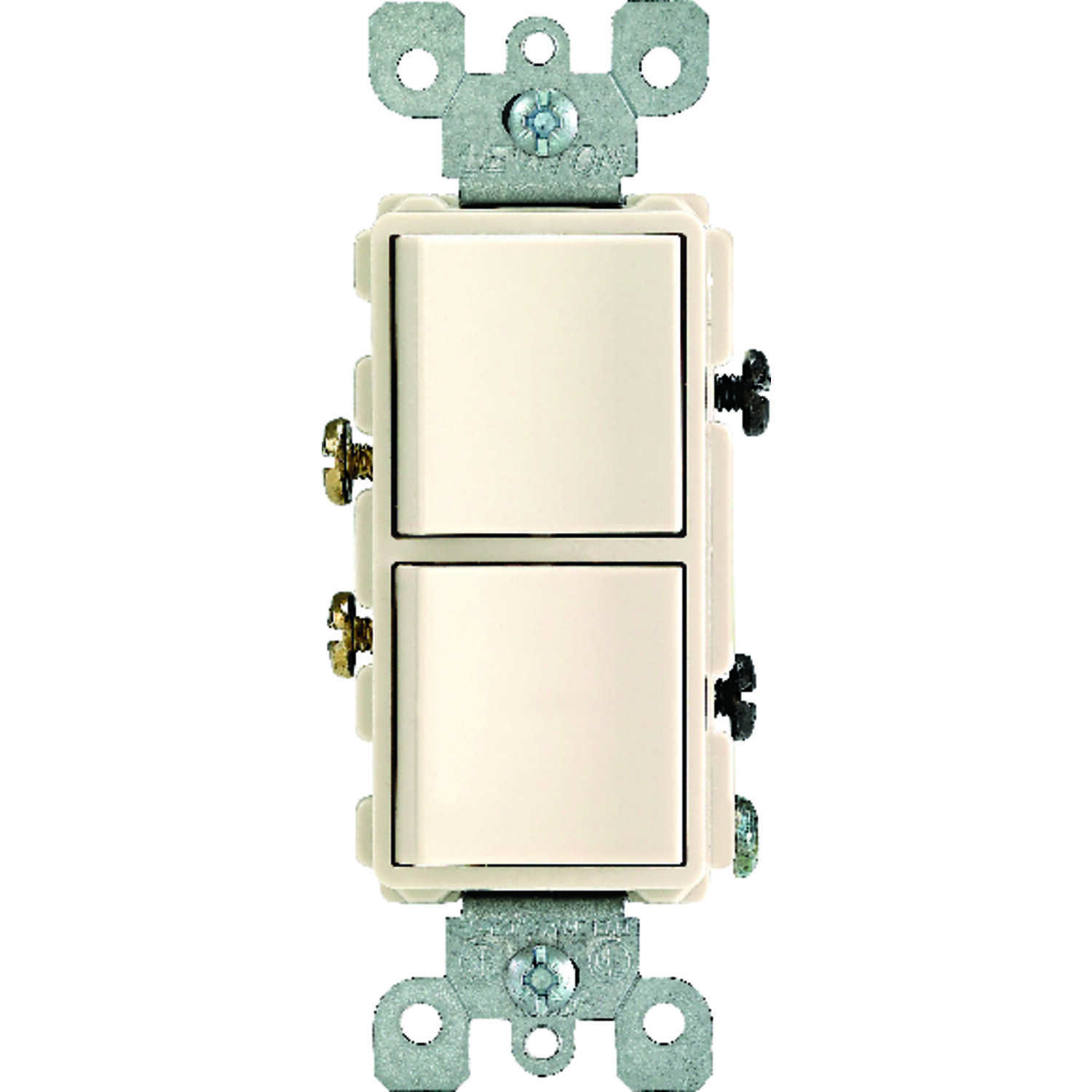Leviton  15 amps Combination  15 amps 1 pk Light Almond  Switch