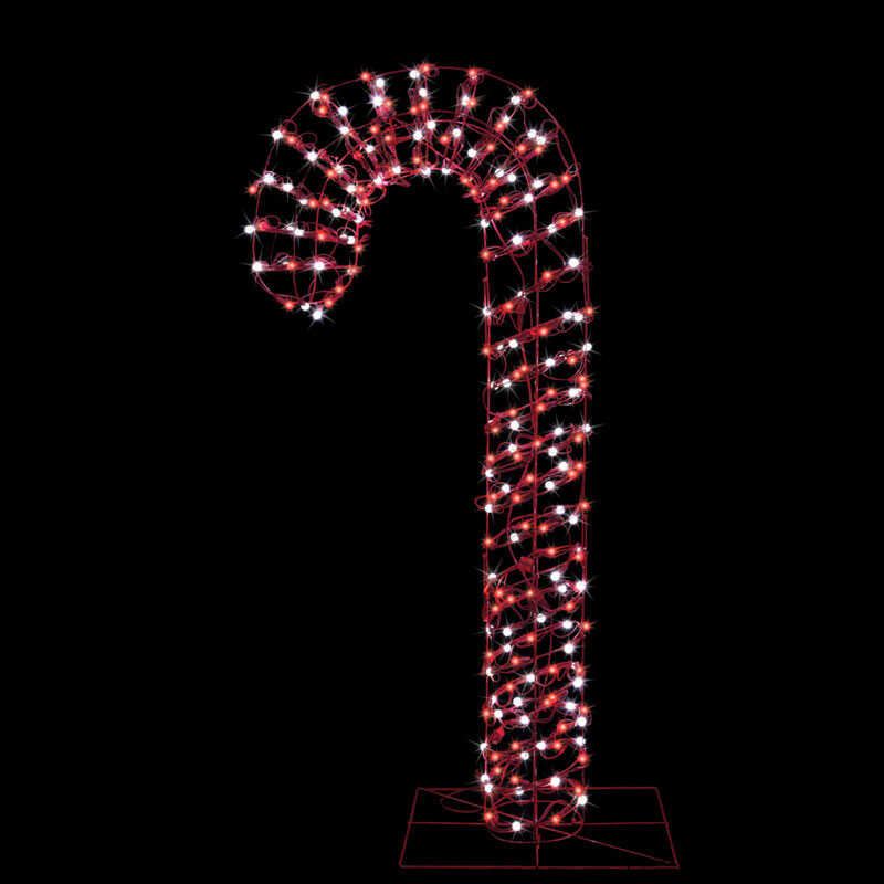 Celebrations  Candy Cane  LED Christmas Decoration  Red/White  Metal  1 each