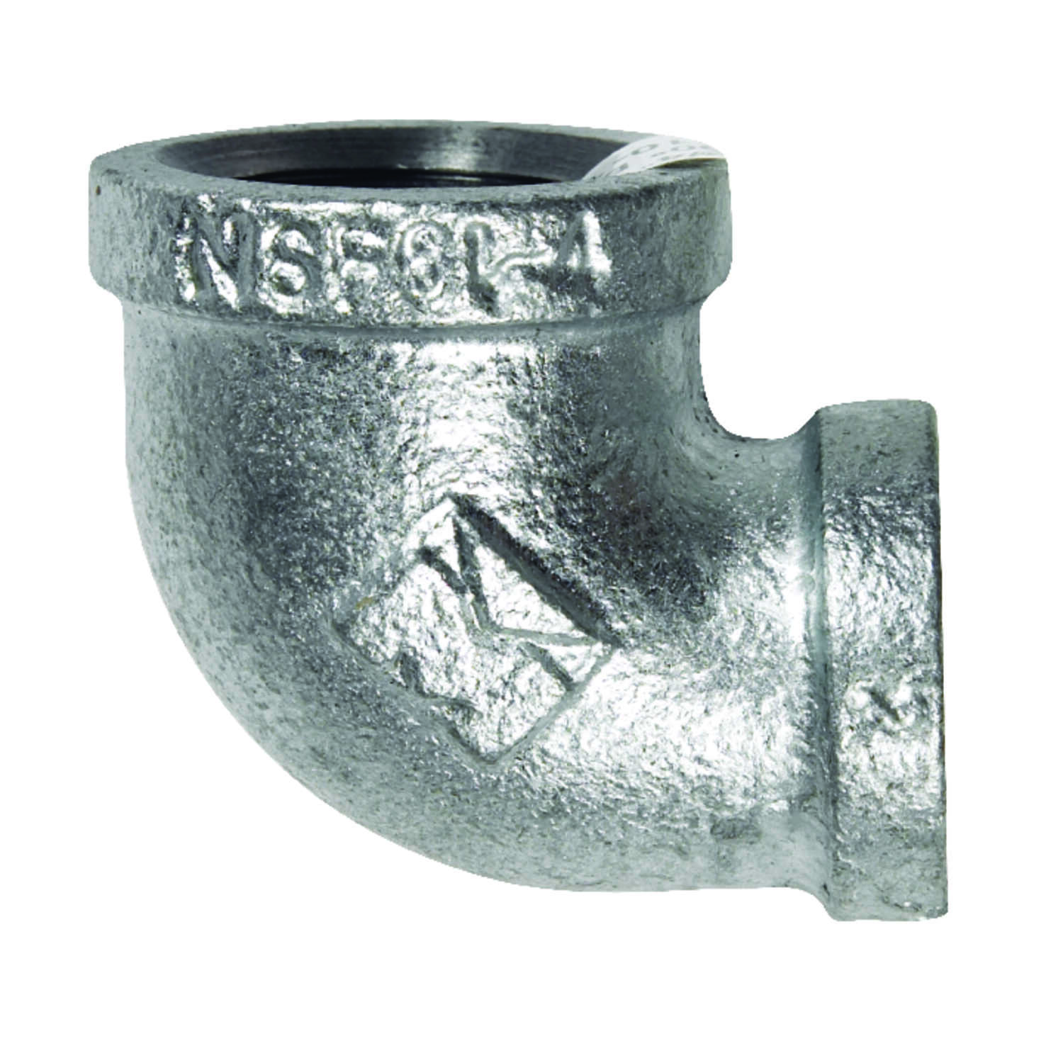 B & K  3/4 in. FPT   x 1/2 in. Dia. FPT  Galvanized  Malleable Iron  Reducing Elbow