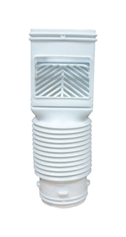 Amerimax  12.75 in. H x 4.625 in. W x 4.625 in. L Vinyl  K  Downspout Connector  White