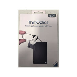 ThinOptics  Always With You  Black  Reading Glasses w/FlashCard Case  +1.00