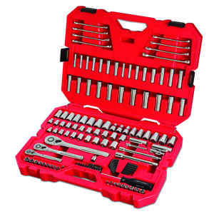 Craftsman  1/4, 3/8 and 1/2 in. drive  Metric and SAE  6 and 12 Point Mechanic's Tool Set  135 pc.