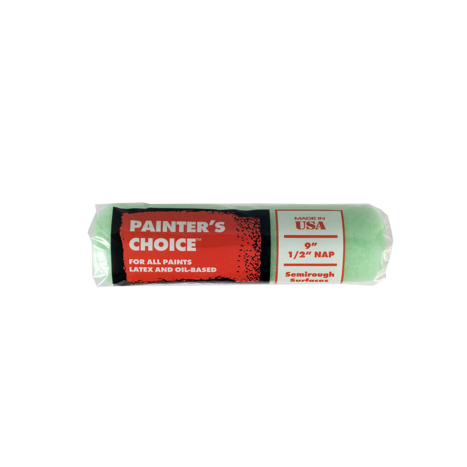 Wooster  Painters Choice  Fabric  1/2 in.  x 9 in. W Regular  Paint Roller Cover  For Semi-rough 1 p