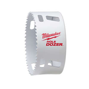 Milwaukee  Hole Dozer  4 in. Dia. x 1-5/8 in. L Bi-Metal  Hole Saw  1 pc. 1/4 in.