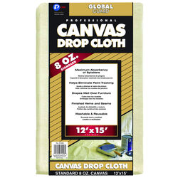 Premier  GlobalGuard  12 ft. W x 15 ft. L 8 oz. Canvas  Drop Cloth  1 pk