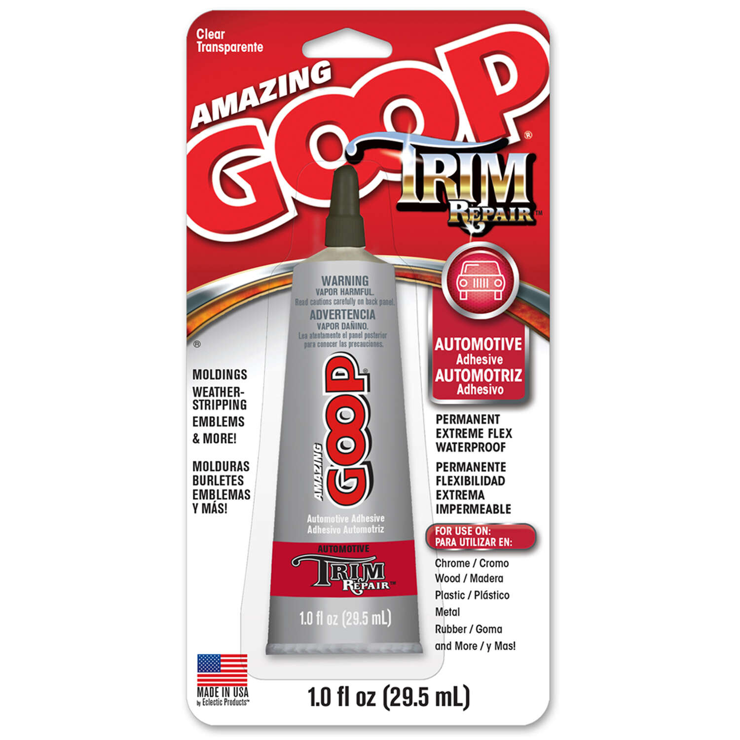 Amazing Goop  Trim Repair  Permanent Strength  Gel  Automotive Adhesive  1